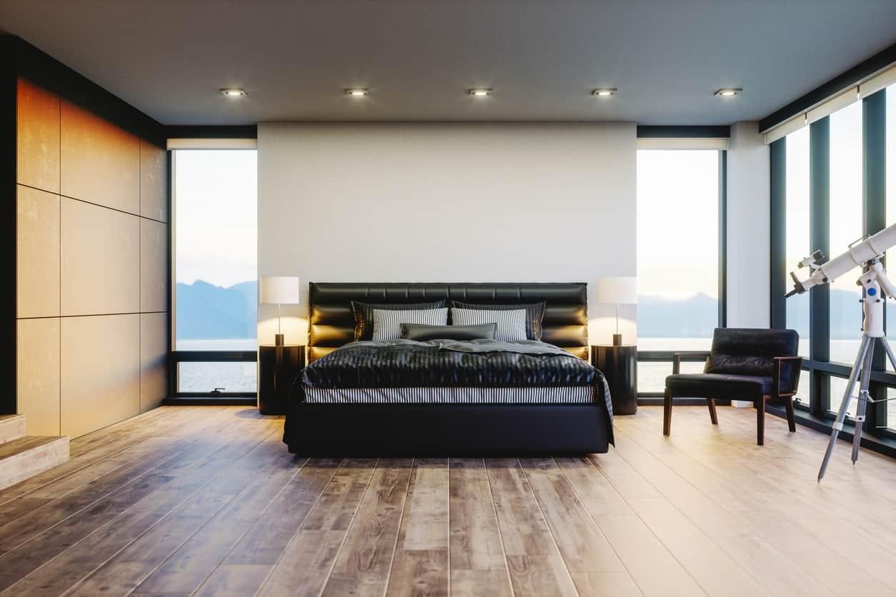 Camera da letto moderna di lusso