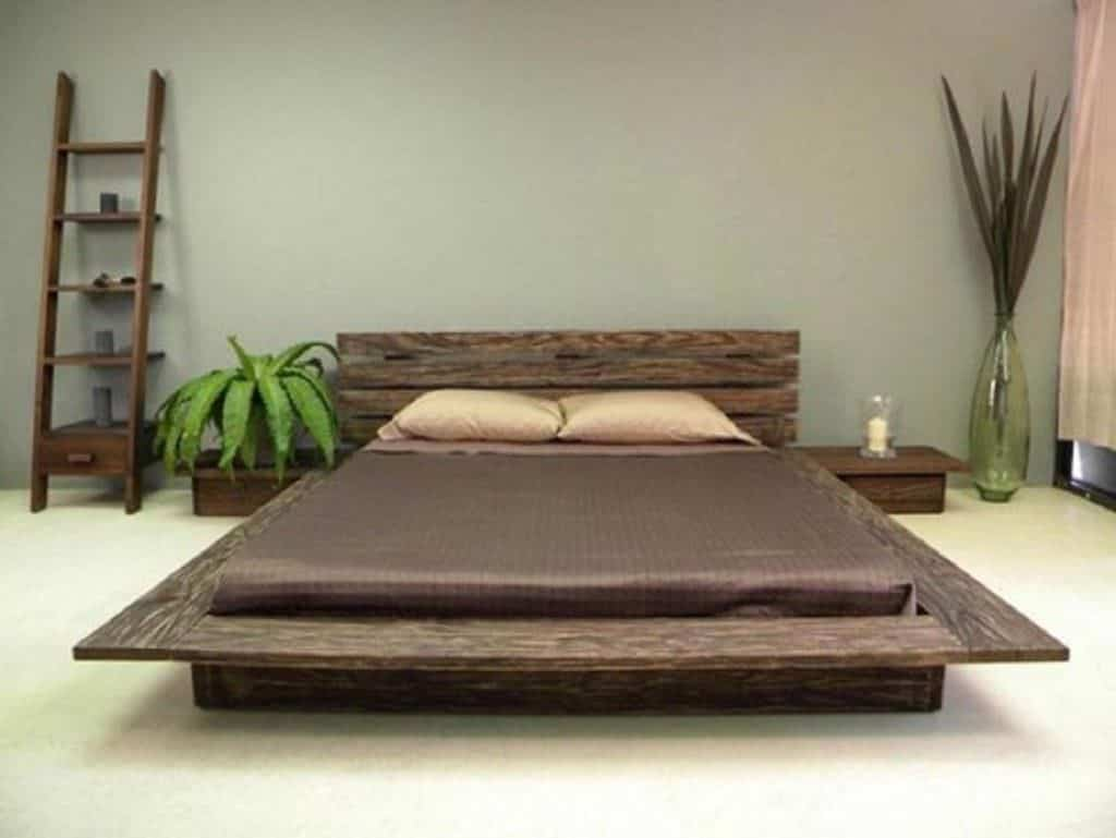 letto pallet stile giapponese