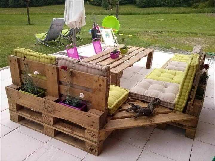 idee con bancali per giardino