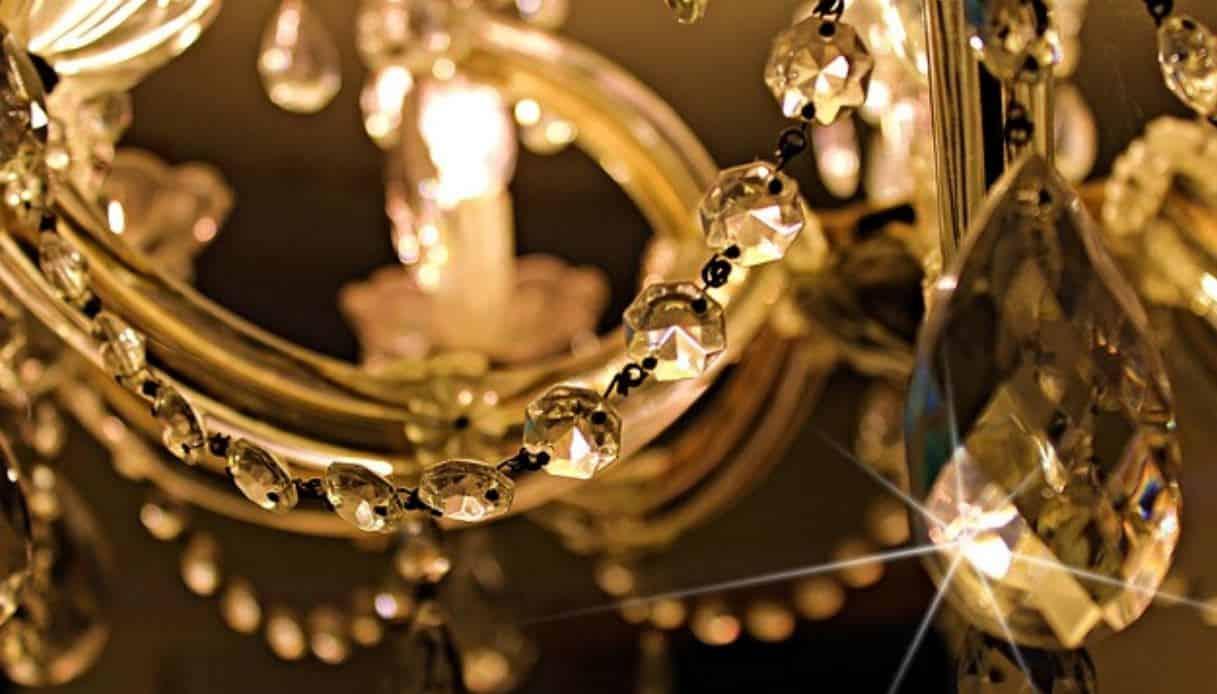 lampadario ottone