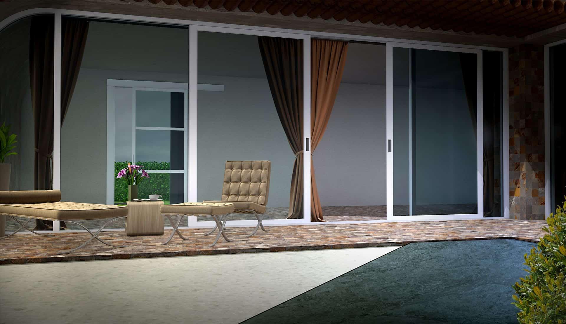 chiudere veranda in muratura
